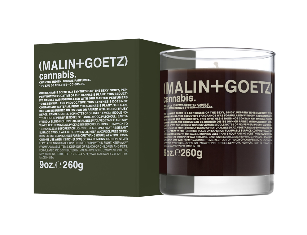 malin cannabis candle